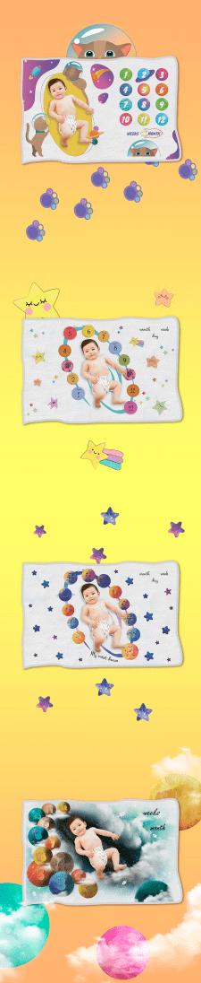Одеяльце для новорожденного (4 вида)