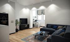Визуализация интерьера Харьковской квартиры 72м кв