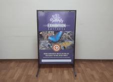 Штендер для выставки «Butterfly»