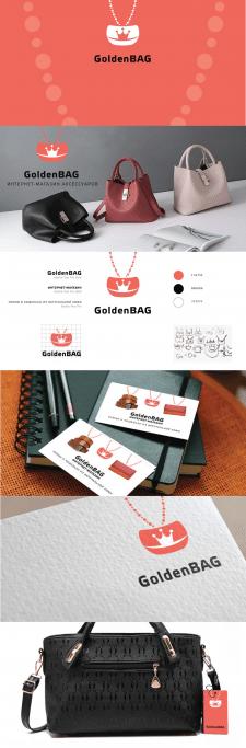 Логотип интернет-магазина аксессуаров Goldenbag