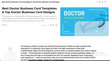 Doctor Business Card Templates. Doctor Busine