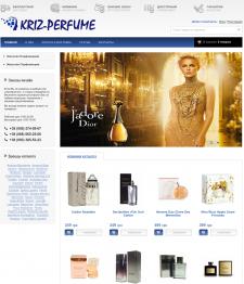 Создание сайта компании Kriz-Perfume