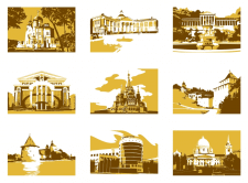 Иконки Города Вектор