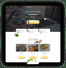 Дизайн сайту  компанії по кейтерінгу