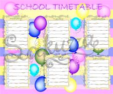 Школьное расписание для девочек