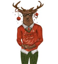 Персонаж для корпоративной новогодней открытки