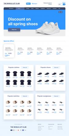 THE WHOLE LOT | Web Design Concept
