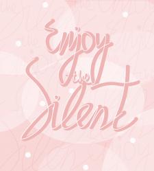 pink font