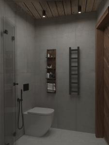 Дизайн гостевого С\У площадью 2,3м2