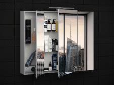 Визуализация зеркального шкафа для ванной