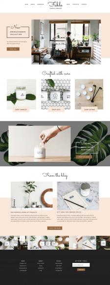 Дизайн сайта для фирмы свечей