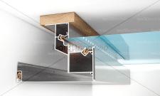 Схема монтажа натяжного потолка