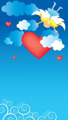 Векторная открытка ко Дню Валентина.