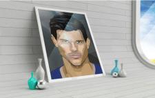 векторный портрет в стиле WPAP на заказ