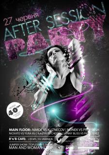Дизайн постера для ночного клуба