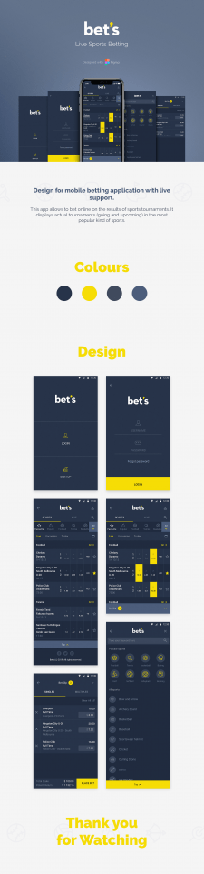 Bet's Mobile Application