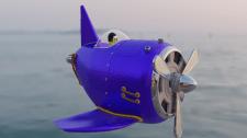 Модель мультяшного самолета.