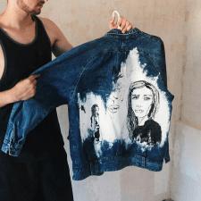 Роспись джинсовой курточки