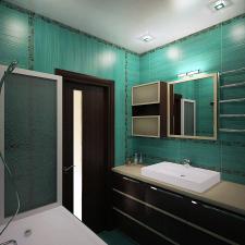 бирюзовая ванная