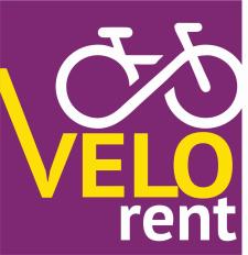 """Логотип сервиса велопроката """"VeloRent"""""""