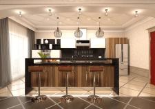 кухня-студия в классике