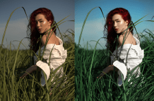 Цветокоррекция фото по образцу