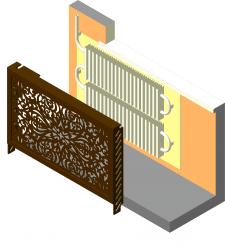 Декоративная защита батарей