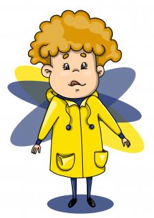 Boy in yellow jacket