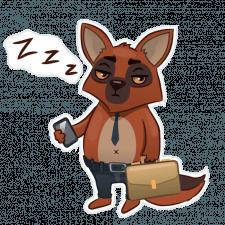 Фенек спит на работе