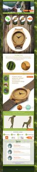 Дизайн сайта Arbor (Наручные часы)