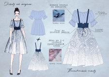 Разработка эскиза платья