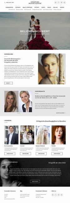 Сайт для фотостудии Belichtungswert