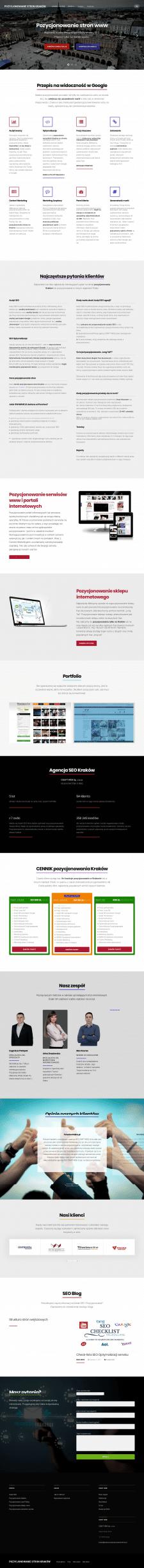 Landing Page для польского агенства - Wordpress