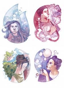 Серия акварельных иллюстраций -1