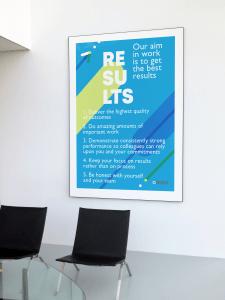 Постер для интерьера компании