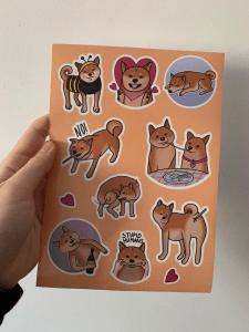 Личный проект - набор стикеров Шиба Ину