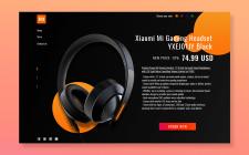 Дизайн главной страницы Xiaomi Gaming Headset