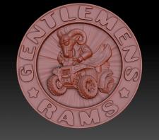 3д-модель по логотипу для клуба квадроциклистов.