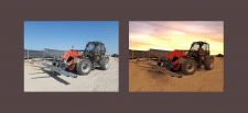 Обработка фото трактора