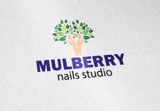 логотип для студии ногтевого дизайна