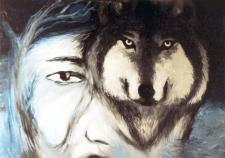 Дух волка ( картина маслом на холсте)