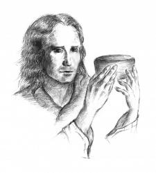 Мужчина с чашей
