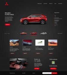 Дизайн сайта Mitsubishi Motors