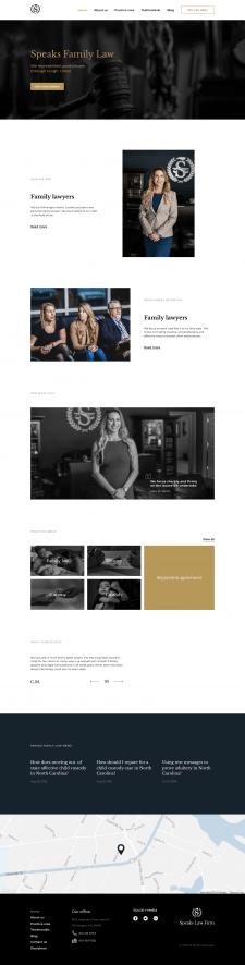 Редизайн сайта для юридической фирмы