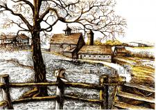 Small village, vector