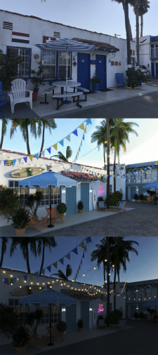 Обновление фасада мотеля в Лос Анджелесе