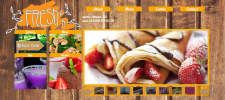 дизайн сайт-визитка для кафе; html верстка;