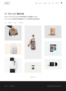 Bernd - Minimal WordPress Portfolio Theme