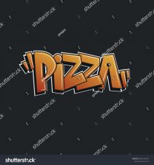 """Слово """"Pizza"""" в стиле граффити"""