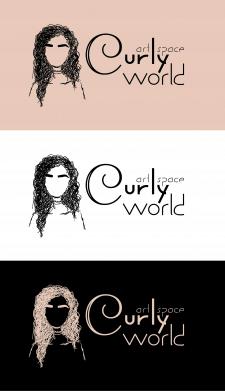 Логотип Curly world (Кучерявий настрій)